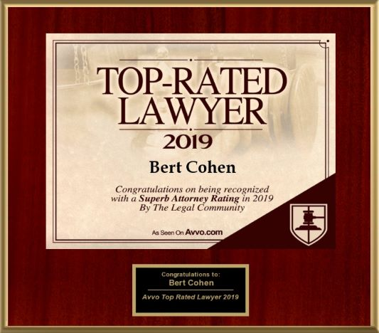 Attorney Bert W. Cohen Avvo Superb 10 rating