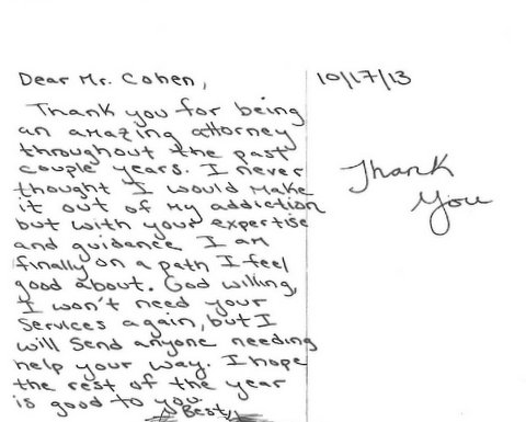 Letters and Reviews from Clients of Metro Atlanta Lawyer
